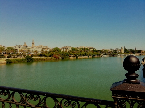 Río Guadalquivir, desde aquí partió Magallanes para realizar la primera vuelta al mundo